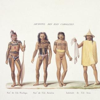 Archipel des Iles Carolines. Nat.l de l'ile Penelape. Nat.l de i'il Aouera. Habitants de l'ile Iros.