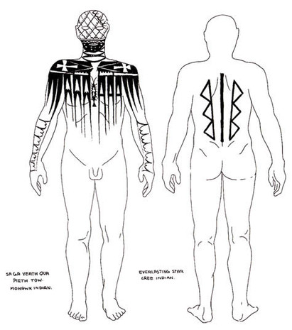Mohawk and Cree Tattoos