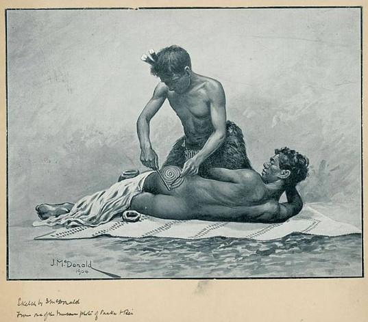 Tattooing Maori Men's Shorts