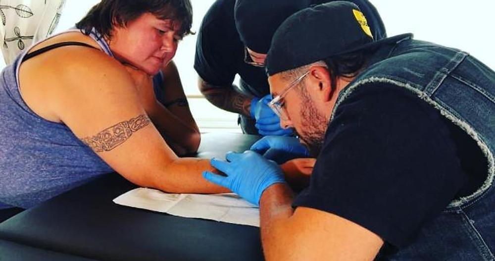 Jordan Bennett Skin Stitch Tattooing