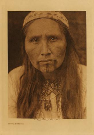 Tolowa Native American Face Tattoo