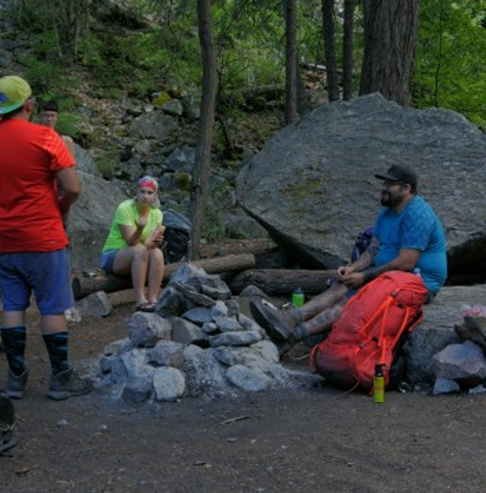 Resting at Devil's Staircase Camp