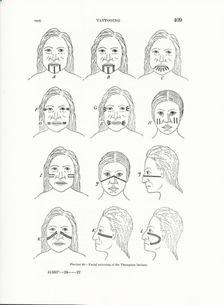 Nlaka'pamux Face Tattoos