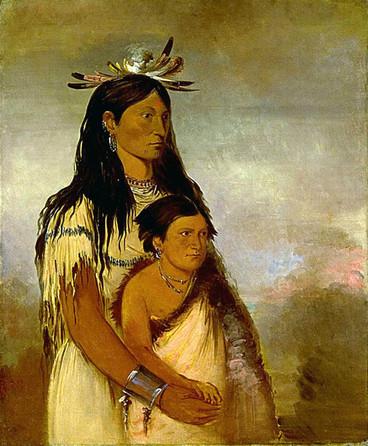 Kiowa Woman's Face Tattoo