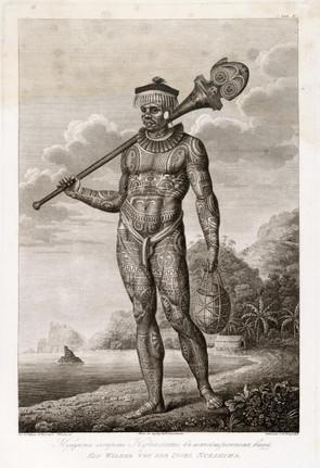 Tattooed French Polynesian Warrior