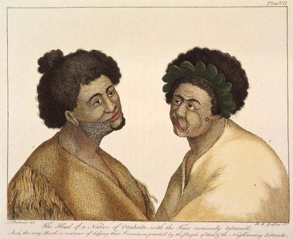 Tahitian Face Tattoos