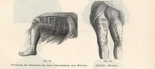 Papua New Guinea Leg Tattoos
