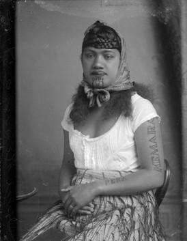 Tattooing on Maori Woman