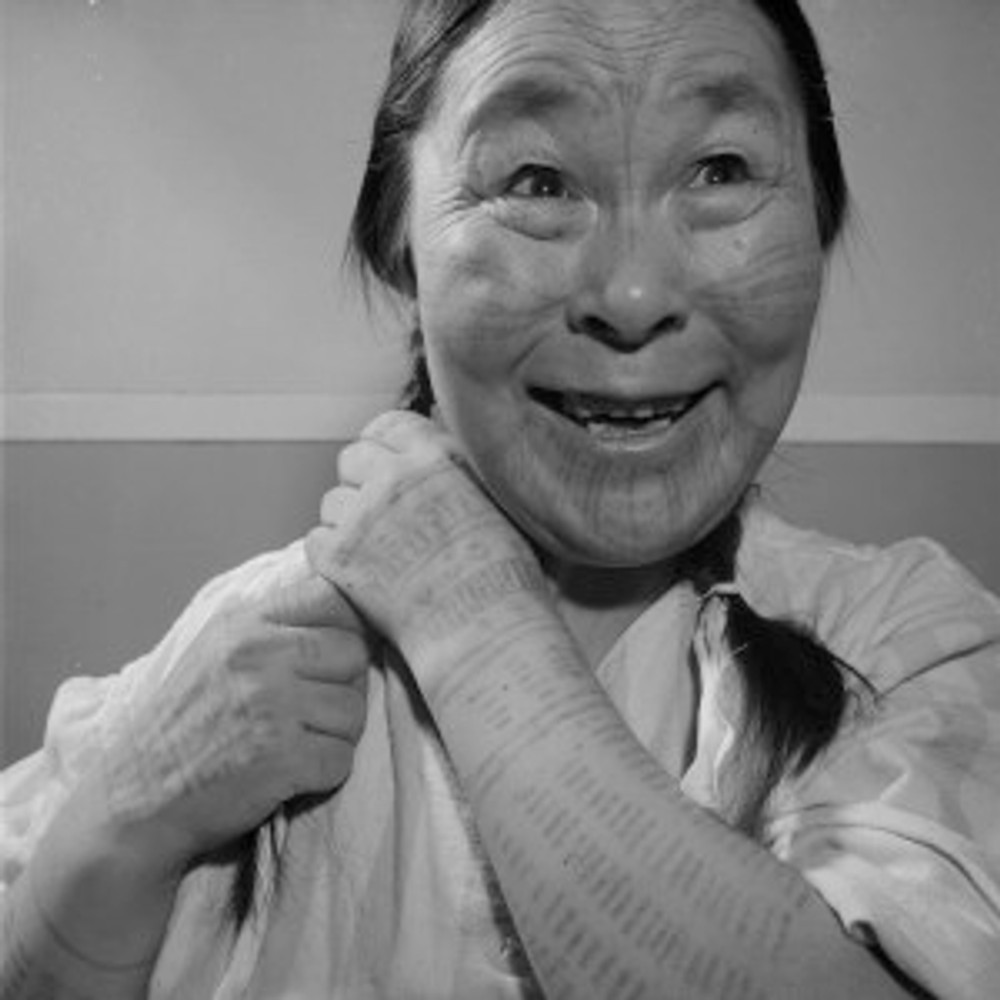 Inuit Face and Arm Tattoos