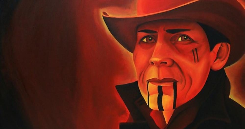 "L. Frank. Oil Painting 36"" x 48"". Dion Kaszas"
