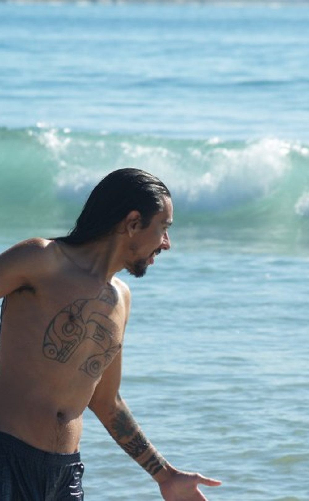 Photo of Nahaan as he enjoys the surf from last years New Zealand trip