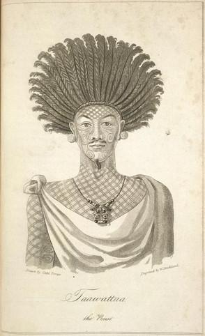 Tattooed Marquesan Priest