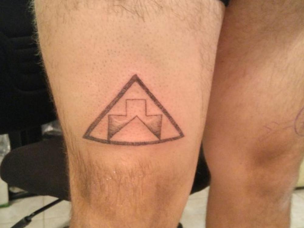 Jordan Bennett's First Hand poke Tattoo on Himself