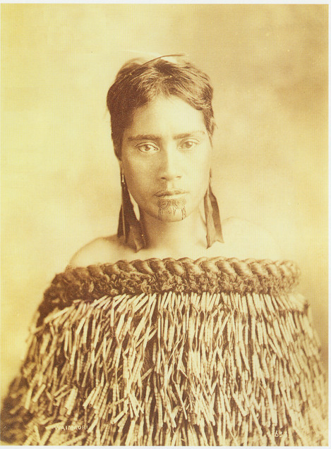 Beautiful Maori Woman with Face Tattoos