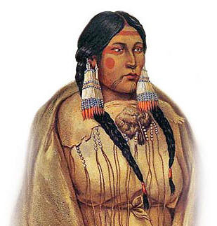 Cree Woman's Face Tattoo