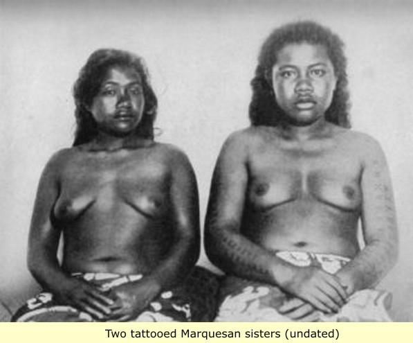 Tattooed Marquesan Women