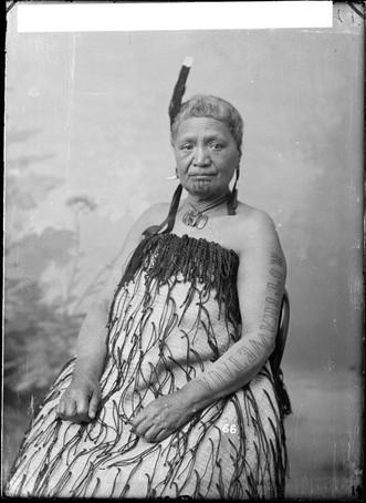 Maori Woman with Face Moko