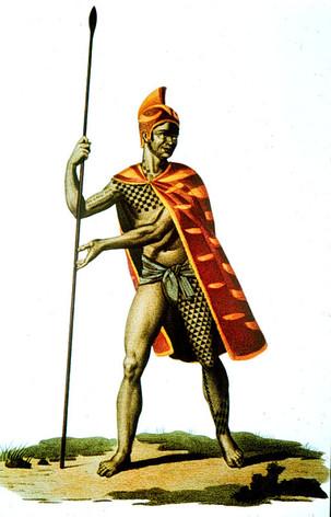 Tattooed Hawaiian Warrior