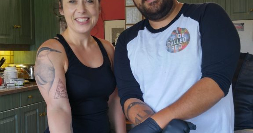 Jordan Bennet and Kacie Auffret
