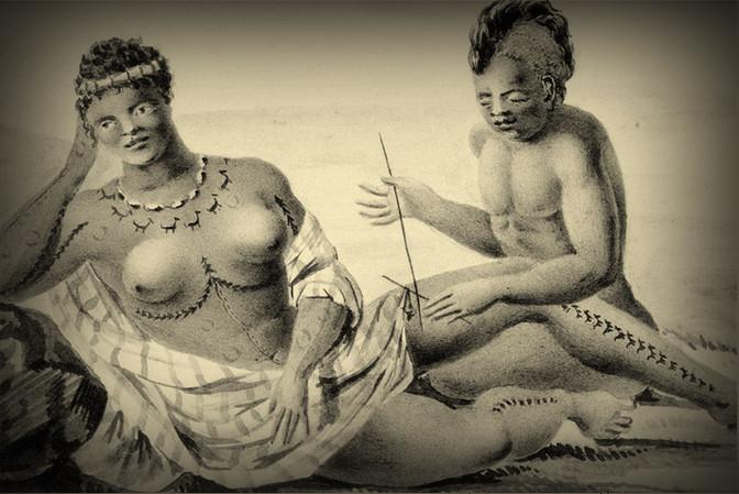 Hawaiian Female Tattoo