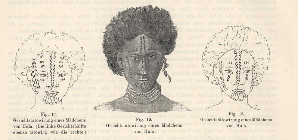 Papua New Guinea Women's Face Tattoos