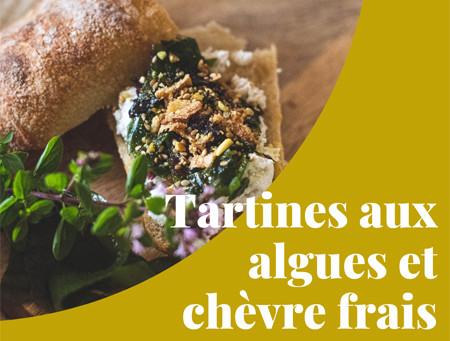 Kif aux algues #1 : Tartines aux algues et fromage de chèvre