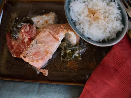 Duo de poissons aux épices et kombu royal.