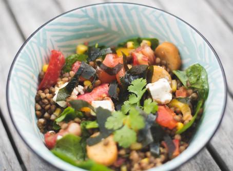 Salade de lentilles et wakamé bio