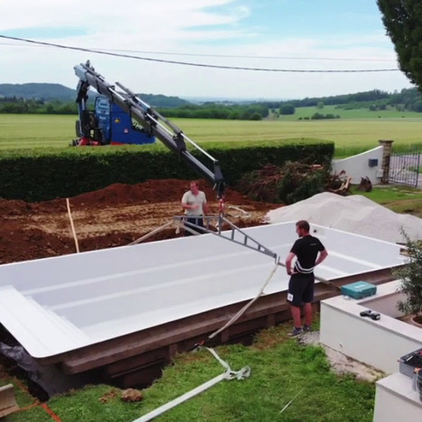 VIDEO - INSTALLATION PISCINE COQUE WIDE 85.