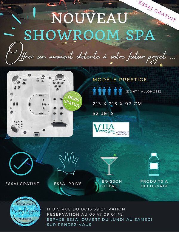 SHOWROOM SPA - PISCINE OXYGENE RAHON 391