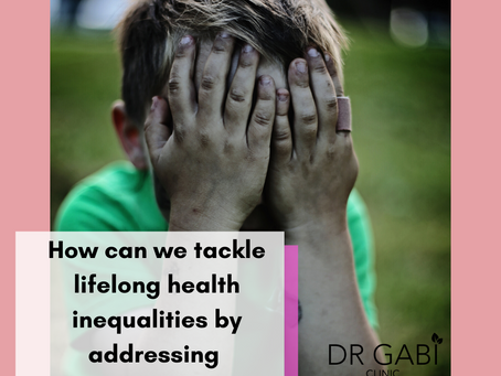 How can we tackle lifelong health inequalities by addressing childhood stress?