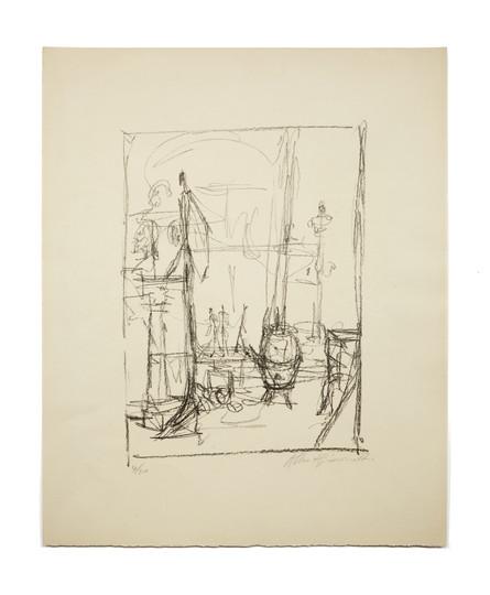 Alberto Giacometti, Figurines et poêle (1954)