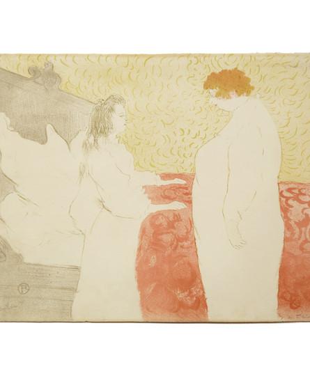 Henri de Toulous-Lautrec, Femme au lit, profil - Au petit lever (1896)