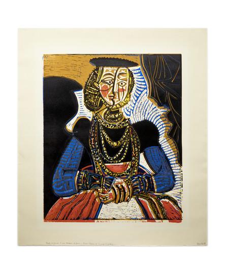 Pablo Picasso, Portrait de jeune fille, d'après Cranach le Jeune II (1958)