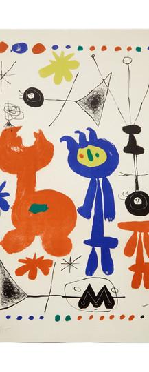 Joan Miró, Personnage et oiseau (1948)