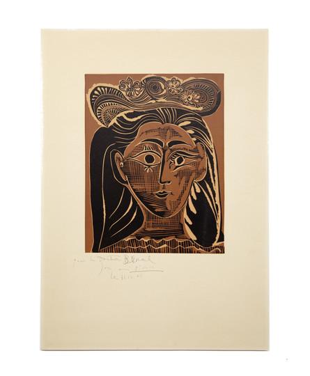 Pablo Picasso, Portrait de femme à la fraise et au chapeau (1965)