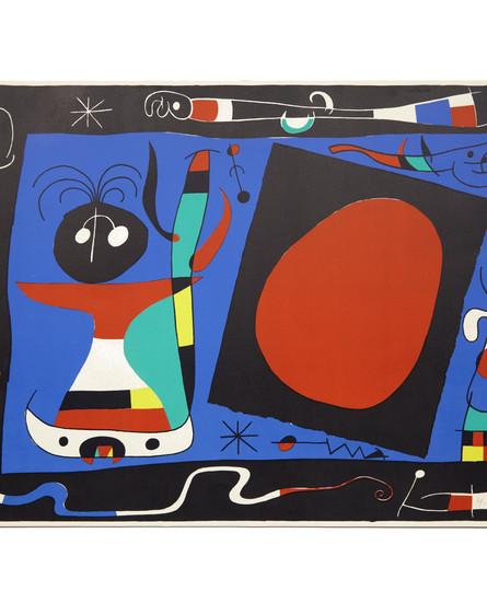 Joan Miró, La femme au miroir (1957)