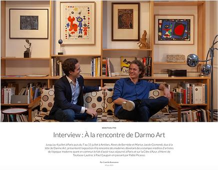 Interview: Alexis de Bernede and Marius Jacob-Gismondi on Darmo Art