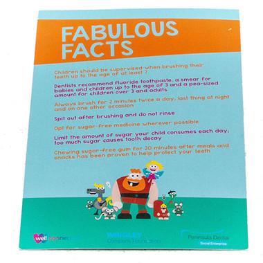 Fact sheet cards
