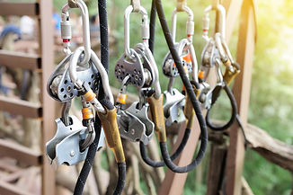 zipline equipment for safety, adventure.
