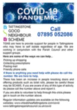 The Good Neighbours Scheme Covid-19 Flyer