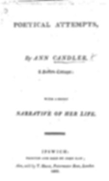 Front cover of Anne Candler's Poetry Book