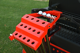 Cheap Physical Prototype of Golf Club Carrier attaching to a golf cart in California
