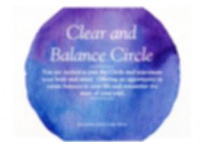 clear and balance circle