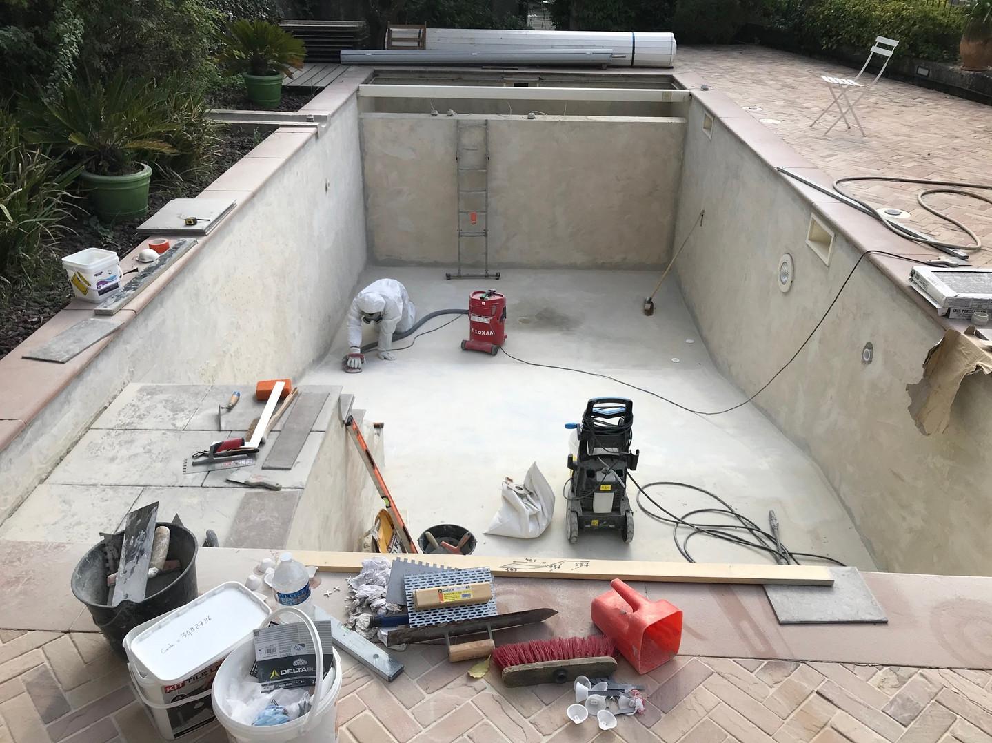 Rénovation de picine à Toulon