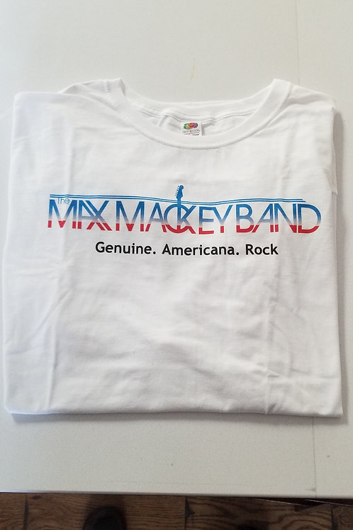 Men's White Max Mackey Band T Shirt