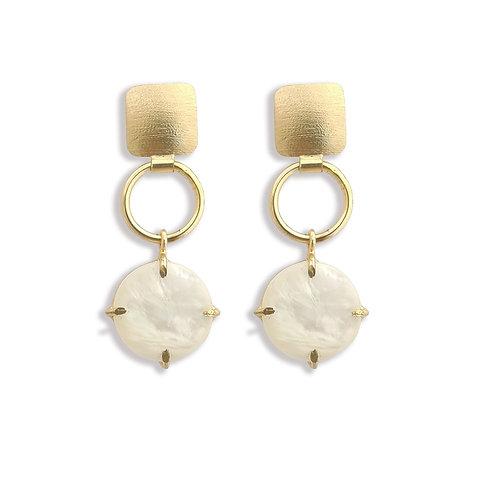 Candy coloured, Single stone earrings