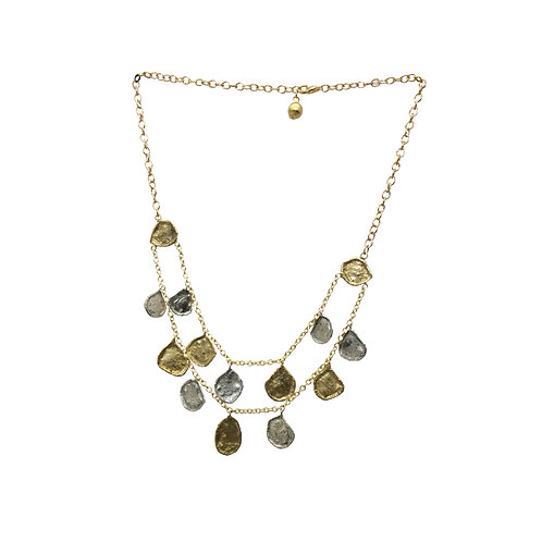 Double line, two- tone necklace