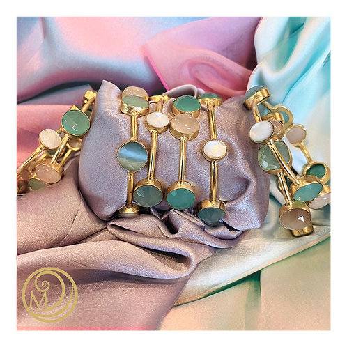 Cute Candy coloured stone bangles set of 2
