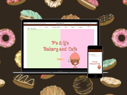 Ps&Qs Bakery and Ca Websitefe